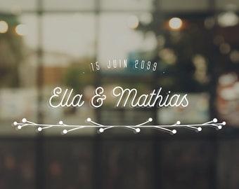 Wedding - Ella & Mathias sticker
