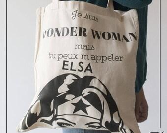 Customizable Tote Bag - Wonder woman