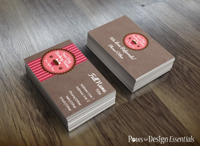 Premade pet bakery business cards pupcakes pet bakery dog etsy image 0 colourmoves