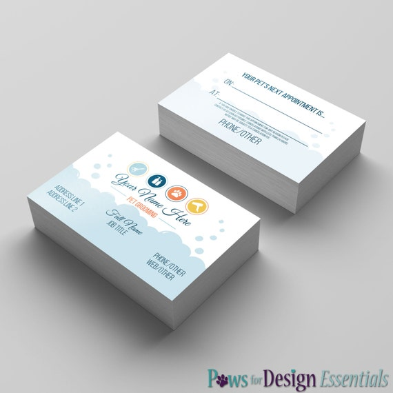 image 0 - Dog Grooming Business Cards
