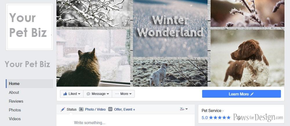 4 Seasonal Pet Business Facebook Cover Photos - pet groomer pet sitter dog  trainer pet bakery pet retail pet store pet business social media