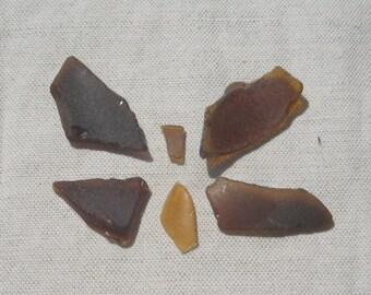 Sea glass bulk Beach glass Bulk amber brown Baltic Sea glass Jewelries supplies Craft supplies Authentic genuine Sea glass Surf tumbled