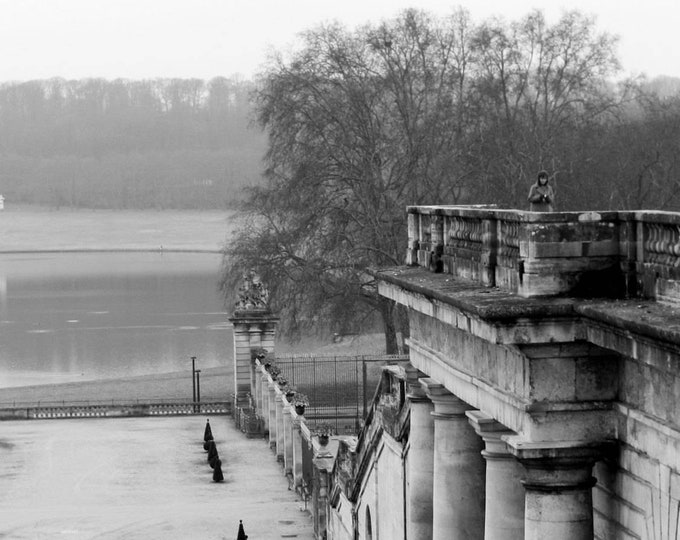 Black and white photo Versailles en hiver 8 x 12 inches