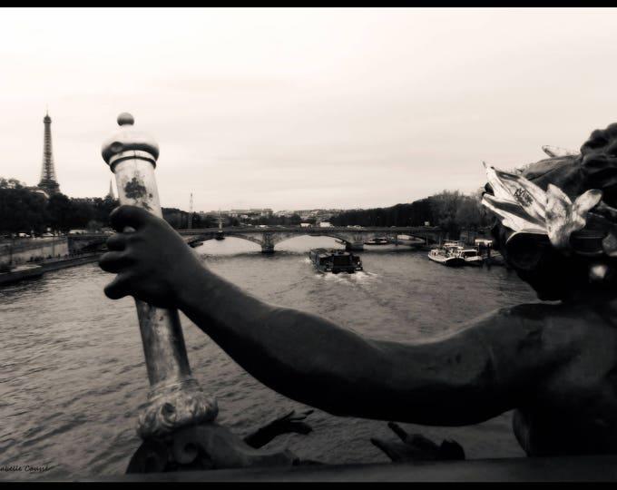 Black & white Paris photography Je t'aime 12 x 18 inches