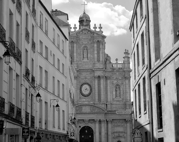 Black and white photography Le Marais 19 x 12 inches (about)