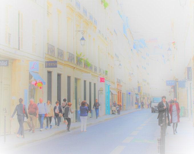 Color Paris photography Bubbles 12 x 12 inches (about)