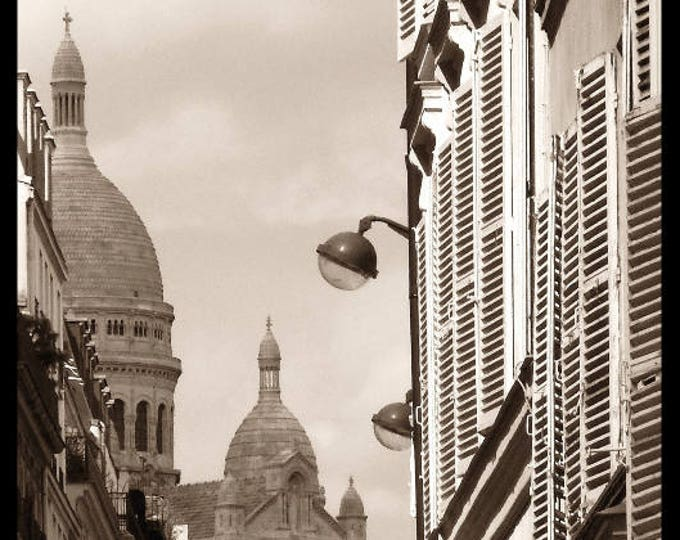 Sepia photography Pigalle in august  8 x 8 inches