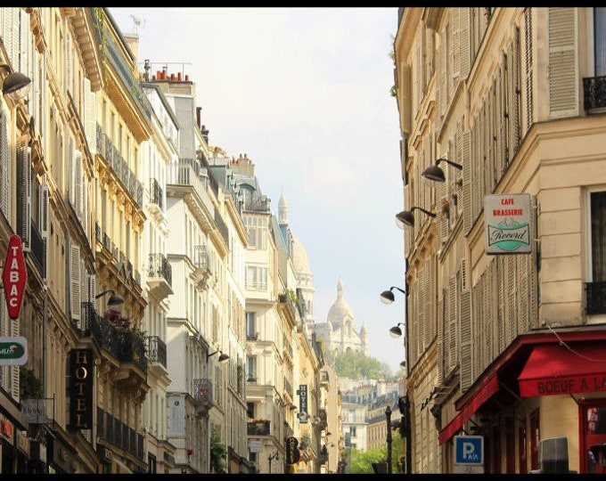 Color Paris photography Fenêtre sur Pigalle 13 x 18 inches