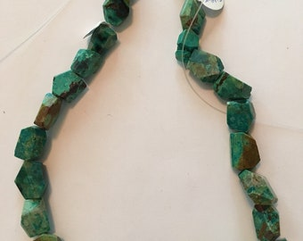 Chrysoprase Faceted Nugget Beads 10-15 mm