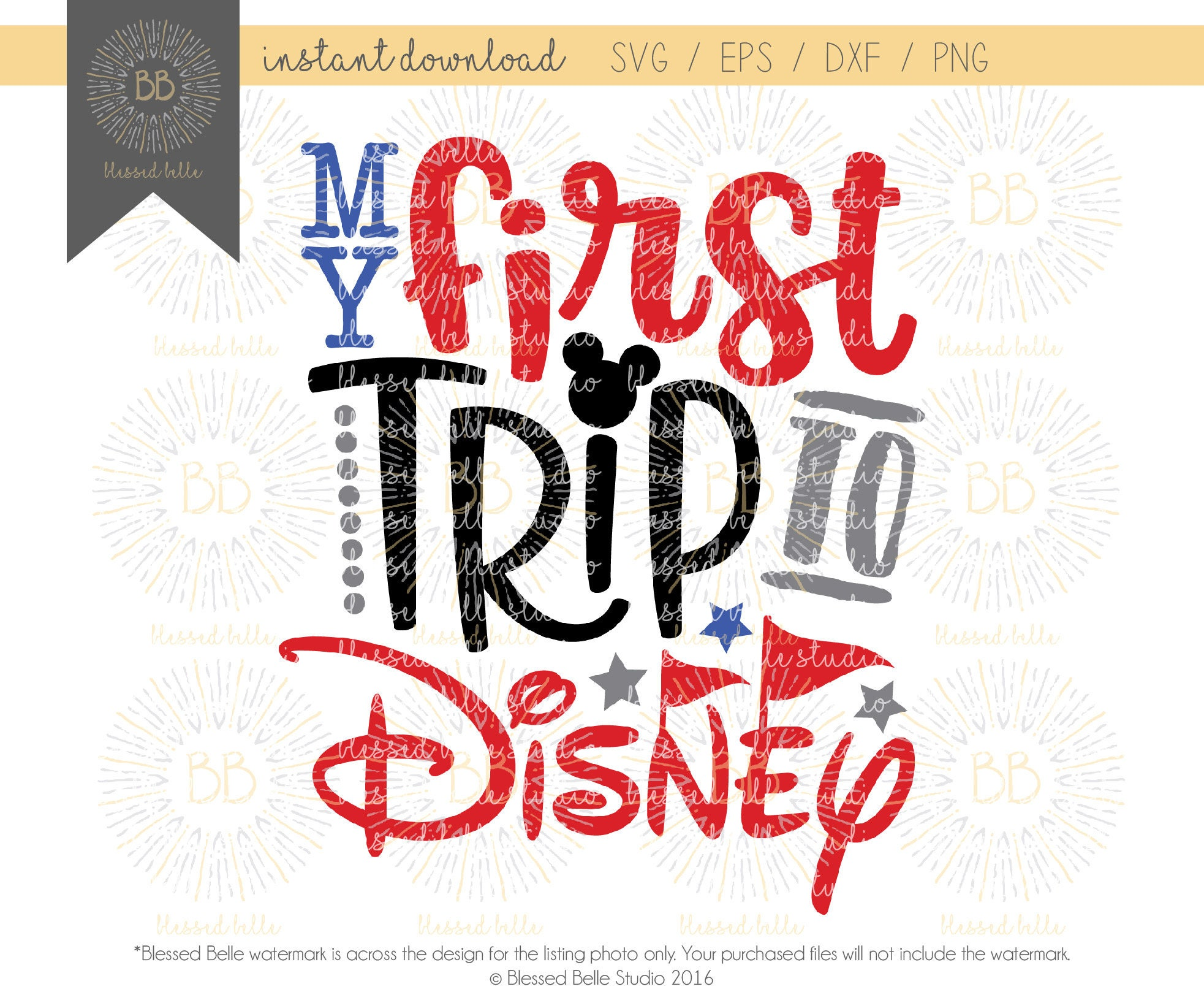 My first disney trip SVG disney svg boy svg eps dxf png  Etsy