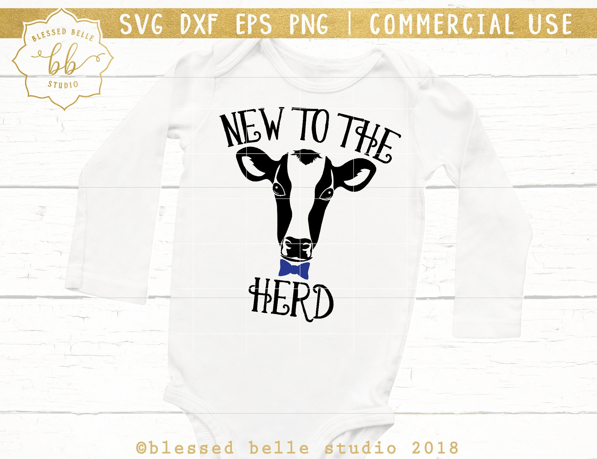 New to the herd SVG baby svg newborn svg cow svg newborn ...