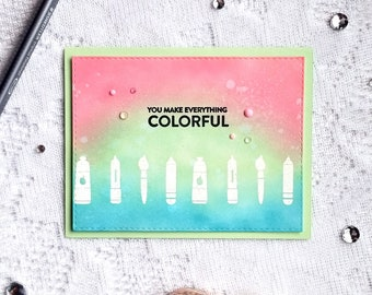 Crafty Friends Greeting | You Make Everything Colorful | Friendship Card with Envelope Included | Ready to Ship | Brite Designs Studio