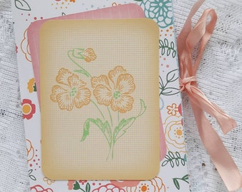 Floral Summer/Spring Mini Photo Album | Handmade Journal & Keepsake Album | Ready to Ship | Brite Designs Studio