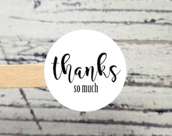 Thanks So Much Stickers | Business Packaging | Thanks Stickers | Business Stickers | Small Business Stickers | Product Packaging