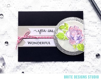 You Are Wonderful Greeting Card | Any Occasion Greeting Card | Envelope Included | Ready to Ship | Handmade Card | Brite Designs Studio