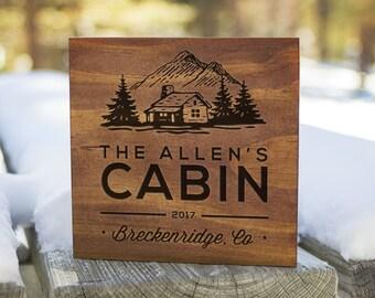 Custom Cabin Signs, Cabin Signs, Cabin Decor, Cabin Wall Decor, Lodge Sign, Lodge Decor, Rustic Signs, Rustic Wall Decor (GP1092)