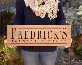 Personalized Last Name Sign, Family Established Sign, Wedding Gift, Custom Wood Sign, Wooden Signs, Personalized Wedding Gift (GP1083)