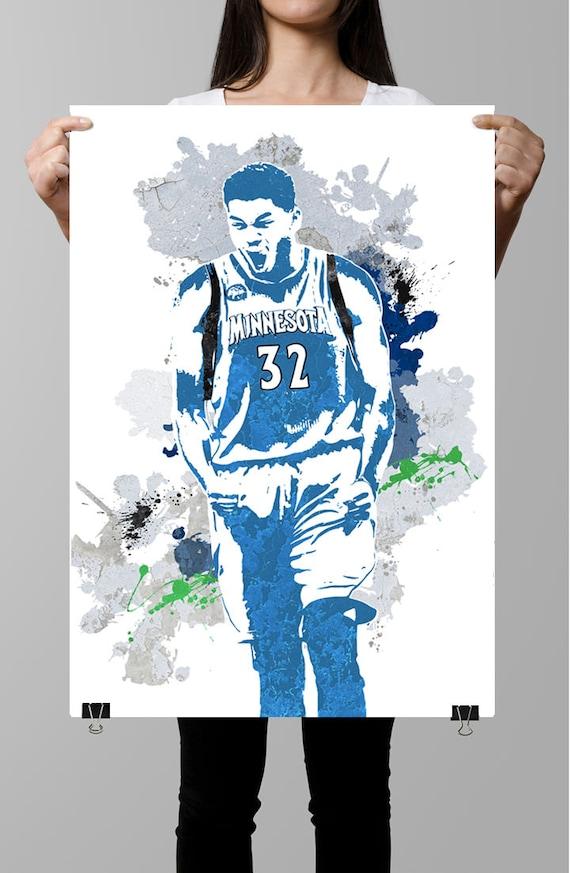 Fan Art Poster Karl Anthony Towns Minnesota Timberwolves Etsy