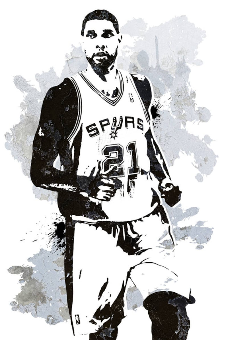 0906943b3 Fan art poster Tim Duncan San Antonio Spurs Wall art poster