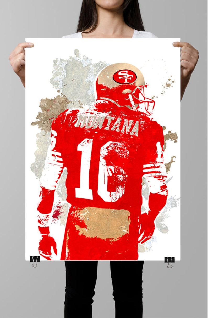 Joe Montana Joe Cool San Francisco 49ers Poster Wall art  d06ca328c