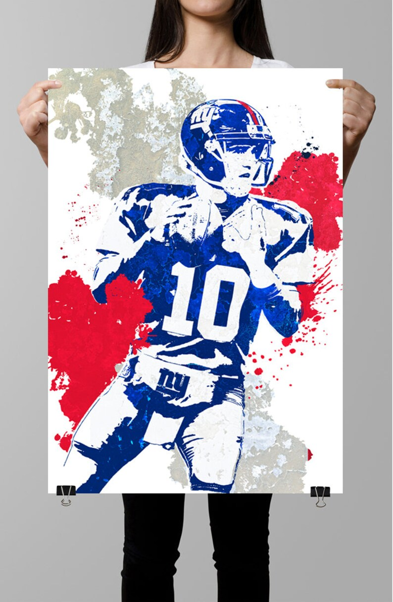6548bdd2 Eli Manning, New York Giants Poster, Wall art,Sports Poster, Sports art,  Sports Print, Kids Decor,Man Cave,Gifts for him, Football Poster