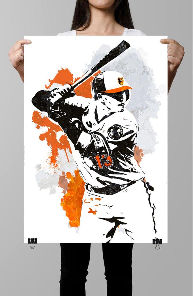 quality design 15836 1e99e Manny Machado, Baltimore Orioles, Sports Poster, Fan art, Wall Art, Sports  art, Baseball Poster, Sports Print, Kids Decor, Sport Posters