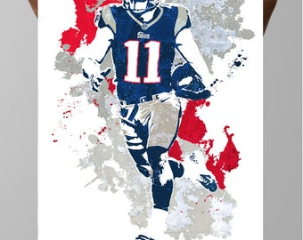 Fan art poster, Julian Edelman New England Patriots Poster, Wall art, Sports Poster, Fan art, Wall Art, Sports art, Sports Print, Kids Decor