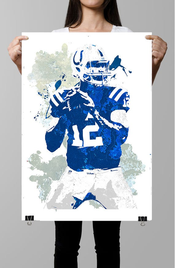 Fan art poster Andrew Luck Indianapolis Colts Poster Wall | Etsy