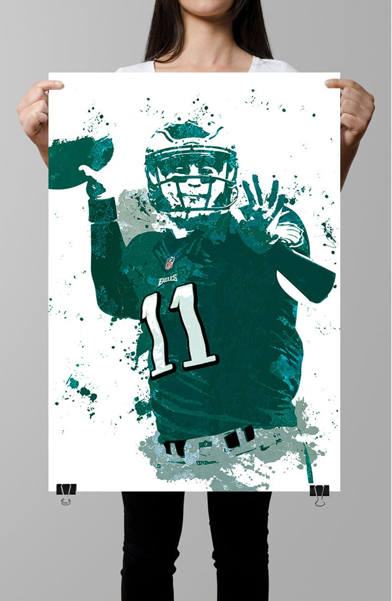 d47cdfbf Carson Wentz Philidelphia Eagles Poster, Wall art, Sports Poster, Fan art,  Wall Art, Sports art, Sports Print, Kids Decor,Man Cave