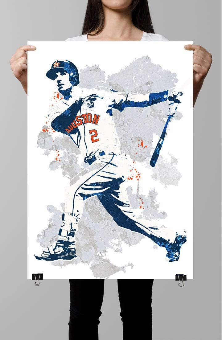 Alex Bregman Houston Astros Poster Wall Art Sports Poster Etsy