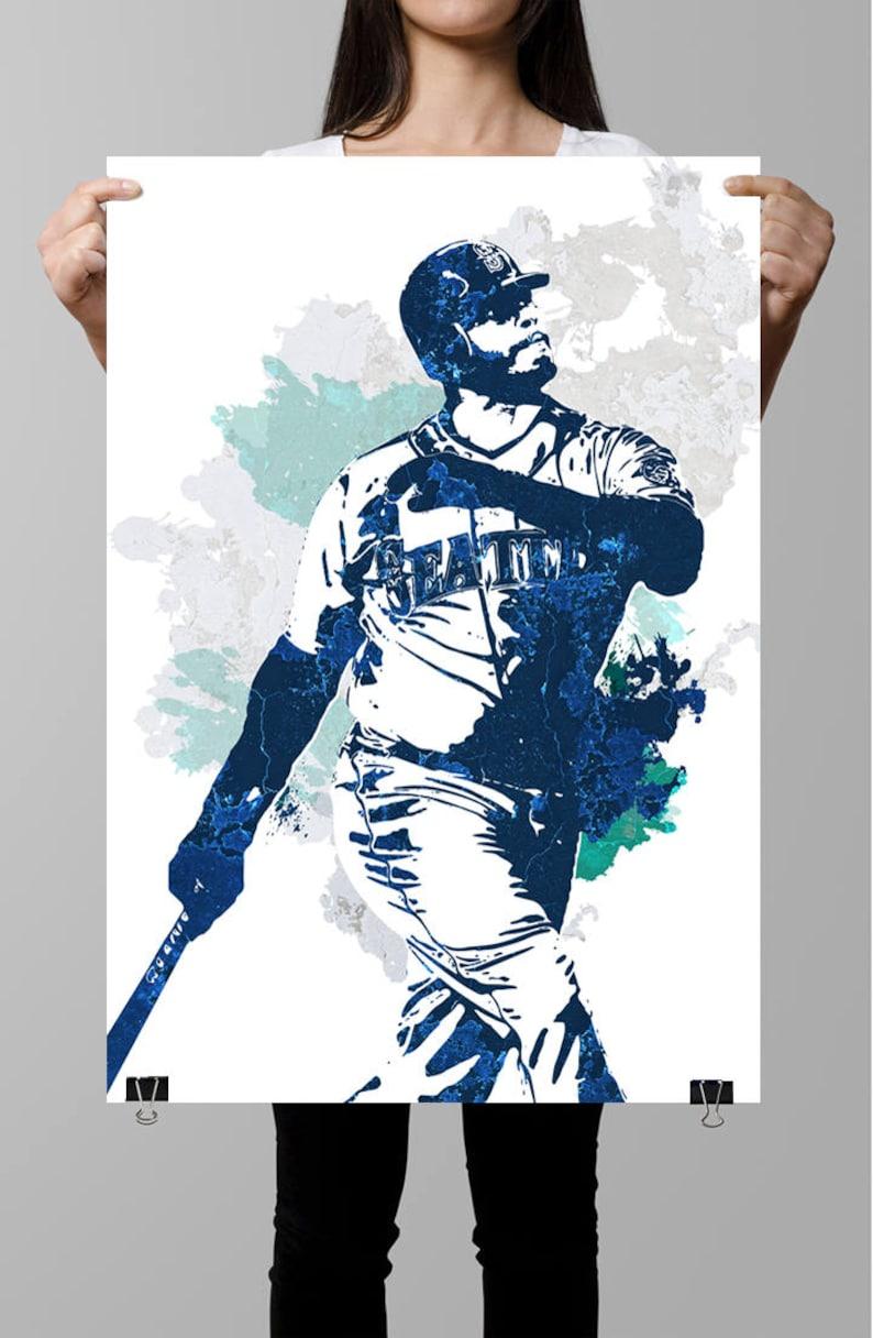 3ba0a8729c Ken Griffey Jr. Seattle Mariners Sports Poster Fan art | Etsy