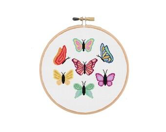 Butterfly Cross Stitch Pattern, Animal Cross Stitch, Insect Cross Stitch, Modern Cross Stitch, Beginners Cross Stitch, Cross Stitch PDF