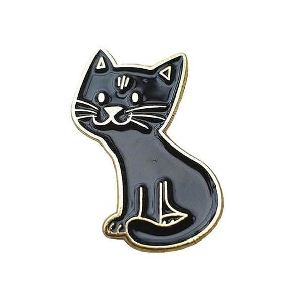 Magnetic Sewing Needle Case Custom Black Cat Business Card Case Option