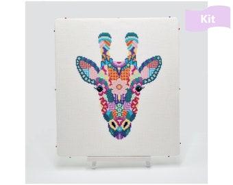 Giraffe Cross Stitch Kit   Mandala Cross Stitch   Animal Cross Stitch   Geometric Cross Stitch   Beginners Cross Stitch   Embroidery Kit