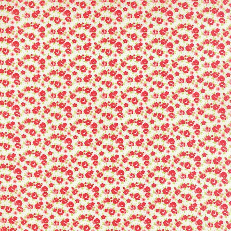 Moda Little Ruby by Bonnie and Camille 1 yd-Little Rosie Cream 55138 17
