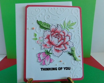 Thinking of You Sympathy Card, Handmade Greeting Cards, In your Loss Special Friend Card, Because I Care Sorry for your Loss