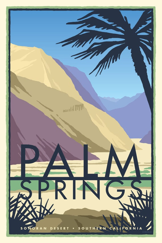 Vintage Dress Palm Springs Desert Print