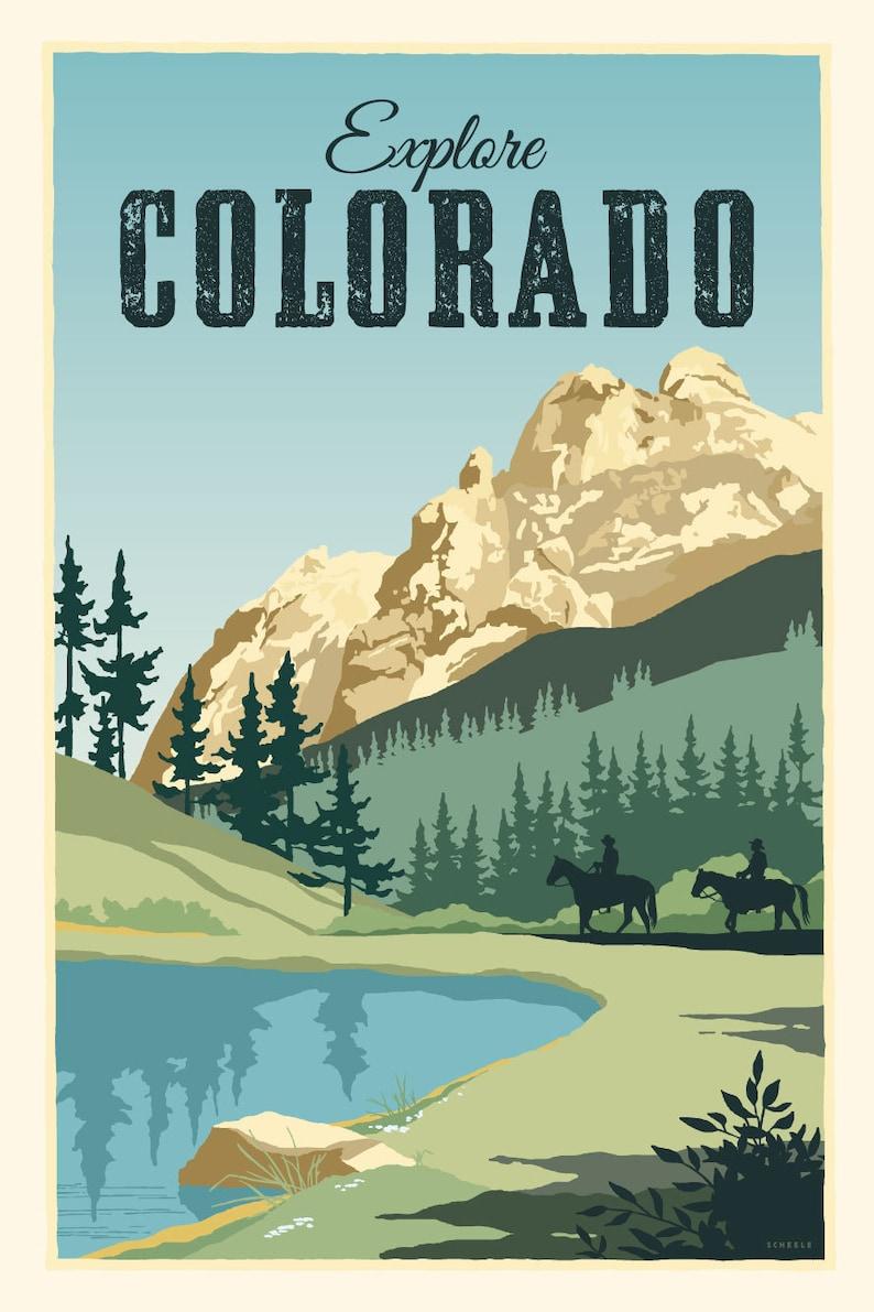733d23e31bb Explore Colorado Vintage Style Travel Poster