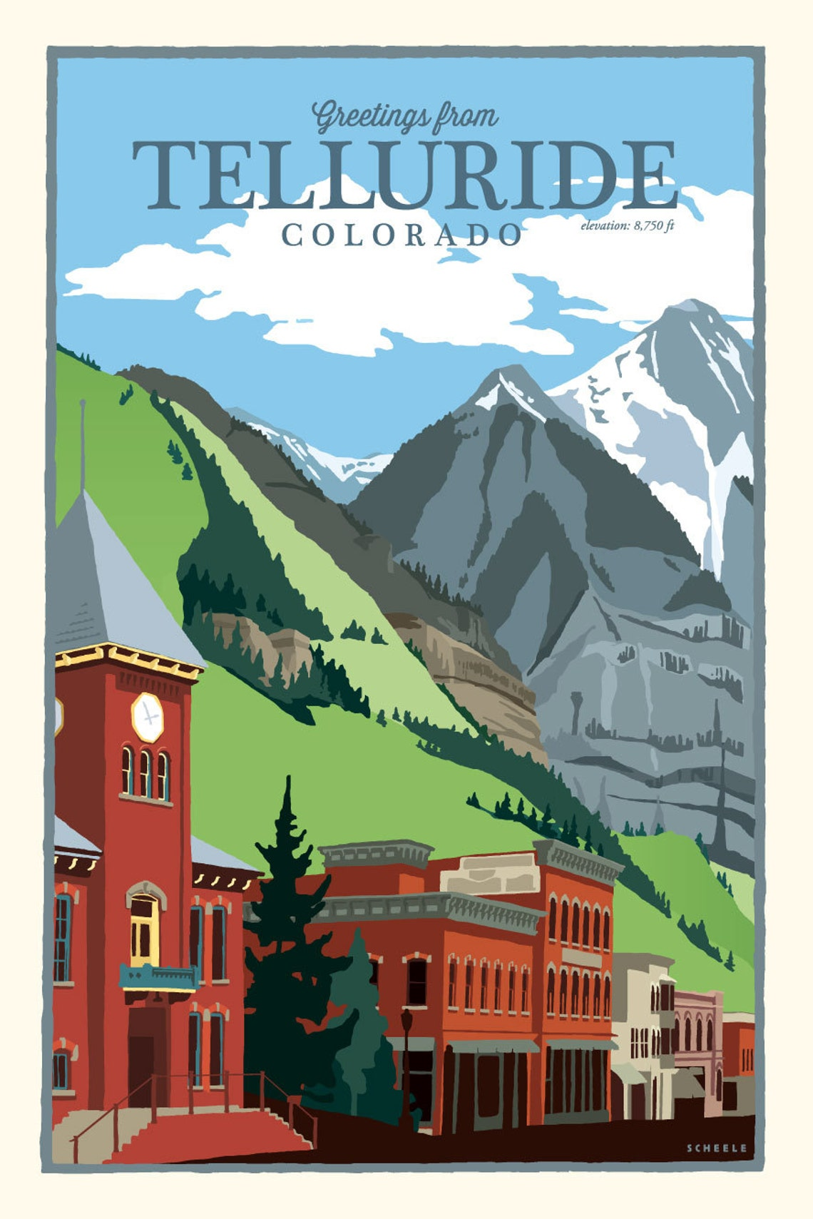 7ec0d68f0e7 Greetings from Telluride Colorado Vintage Style Travel