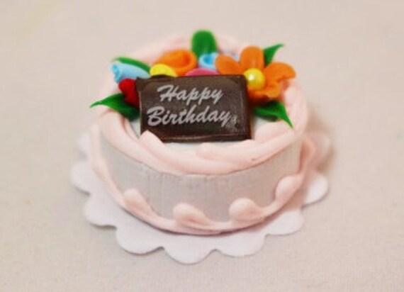 Miniature Birthday Cake Happy Birthday Cake Miniature Cake Etsy