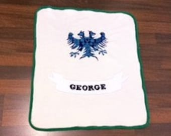 Baby Blanket, Two Headed Eagle, Personalized