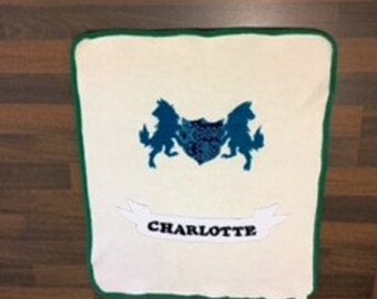 Baby Blanket, Wolves, Personalized
