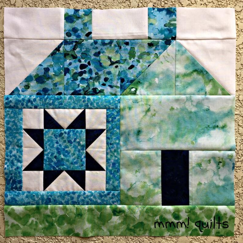 House block PDF quilt pattern 3D pattern modern pattern image 1