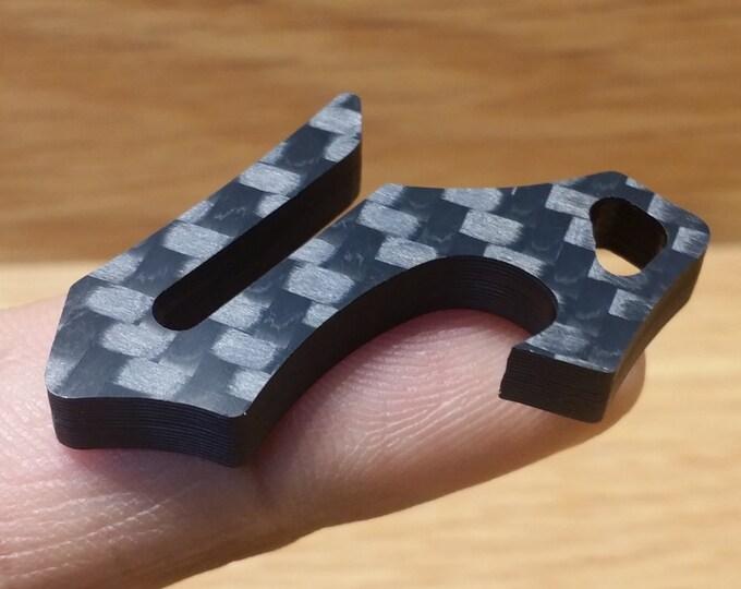 Quanta Clip Keyring Bottle Opener, Pocket Clip, Mini EDC Keychain Tool, Gift for Him, Kickstarter
