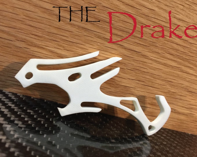 White G10 Chinese Dragon Pocket Clip Bottle Opener -Minimalist iPhone Travel Cell Phone Stand, Novelty Keychain Tool, Gift for Him, Drake