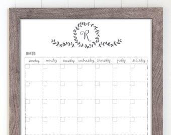 Kitchen Calendar Etsy