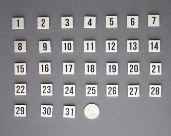 Calendar Magnets | Magnet Numbers, Stainless Steel | Monthly Magnetic Calendar Numbers | Date Magnets