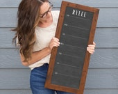 Personalized Weekly Calendar , Personalized Weekly Schedule, 9x24 or 14x36 Weekly Calendar
