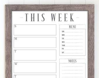 Weekly Calendar Etsy