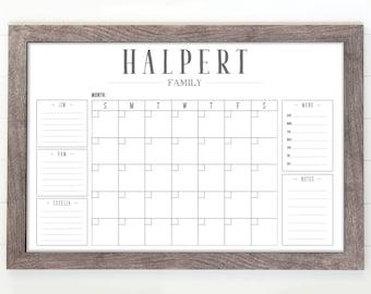 The original custom family calendars   by circleandsquaredecor c870a128bd1a